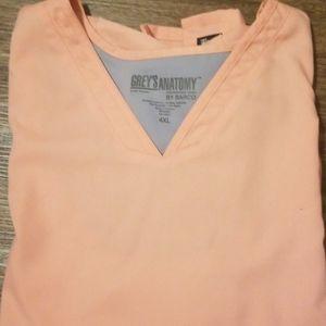 Grey's Anatomy Coral scrub top shirt